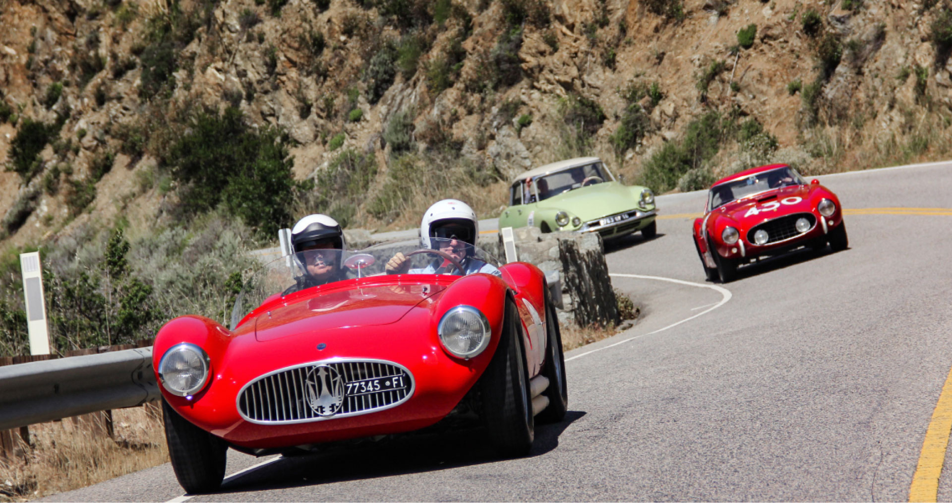 Behind the wheel of the California Mille